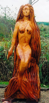 #4 chainsaw carved mermaid