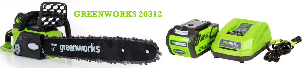 Greenworks gmax battery powered chainsaw