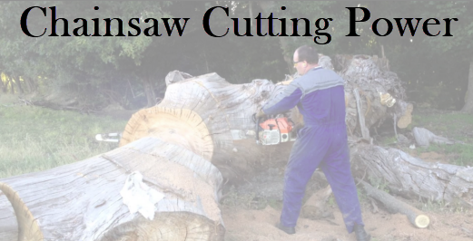 chainsaw cutting power