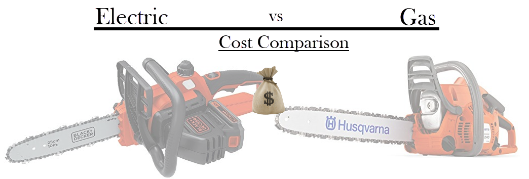 electric vs gas chainsaw cost comparison